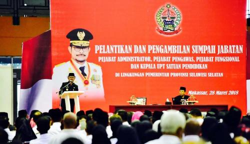 Foto Gubernur Syahrul Lantik 1.261 Pejabat Lingkup Pemprov Sulsel