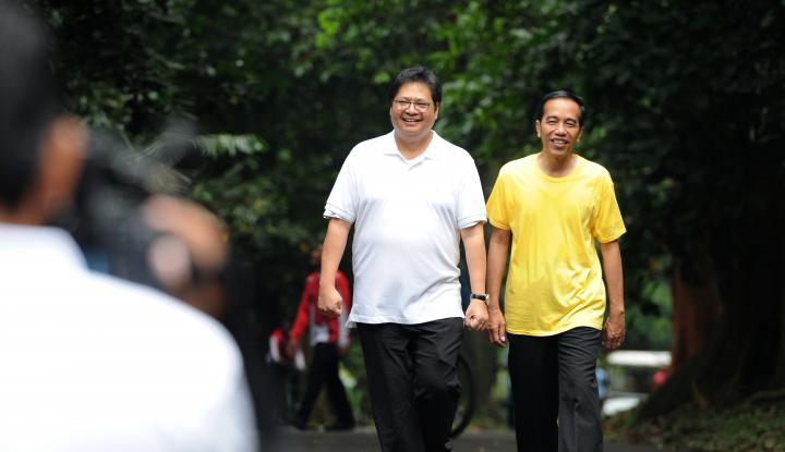 Foto Berita Pertemuan JK-Airlangga, Golkar Tetap Dukung Jokowi