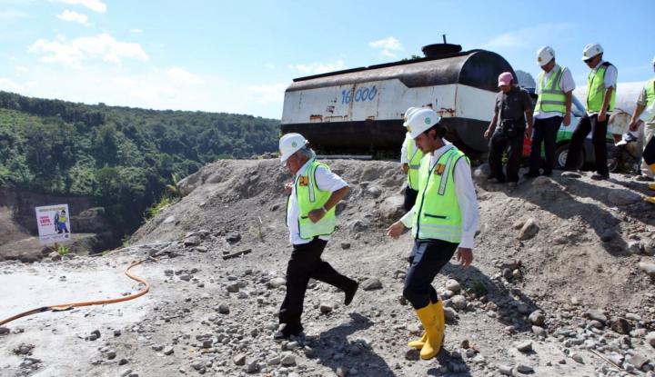 Foto Berita Libur Paskah, Menteri Basuki Tinjau 2 Proyek Bendungan
