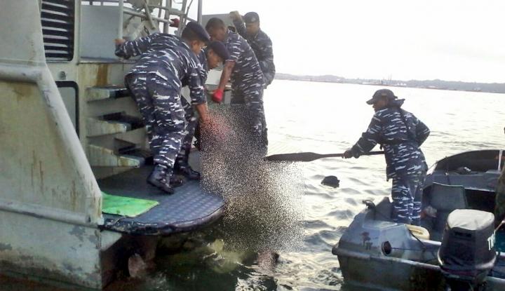 Foto Berita Insiden Minyak Tumpah, Kondisi Teluk Balikpapan Berangsur Membaik