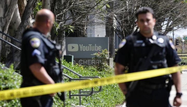 Foto Berita Aksi 'Koboi' Terjadi di Markas Youtube, Tiga Orang Terluka