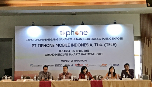 Foto Pefindo Naikkan Rating Tiphone Mobile Indonesia