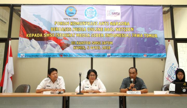 Foto Berita Tekan Peredaran Narkoba BNNK Surabaya Gandeng SMSI Jatim