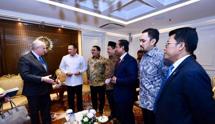 Foto Berita Di Depan Dubes AS, Bamsoet Tegaskan Sikap Pemerintahan Jokowi soal Palestina