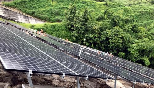 Foto Pengembangan Energi Surya Berjalan Lambat