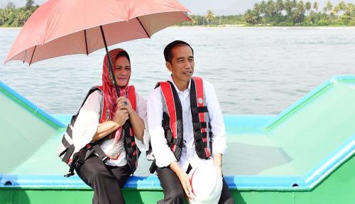 Foto Romantisnya Presiden dan Istri Tinjau Jembatan Holtekamp di Jayapura