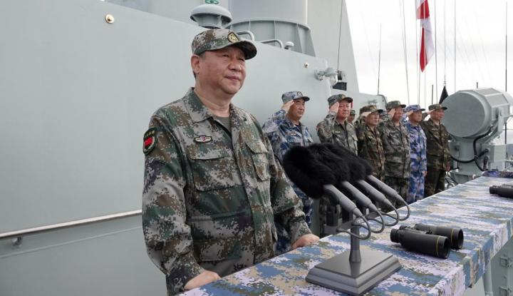 Foto Berita Xi Jinping Pimpin Langsung Parade Militer Terbesar Cina di Laut China Selatan