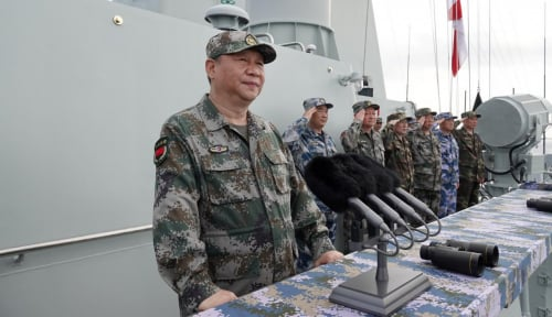 Foto Latihan Militer Gabungan China-Rusia Catatkan Sejarah Baru