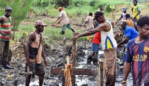Foto Pembangunan Jalan di Papua Guna Buka Keterisolasian