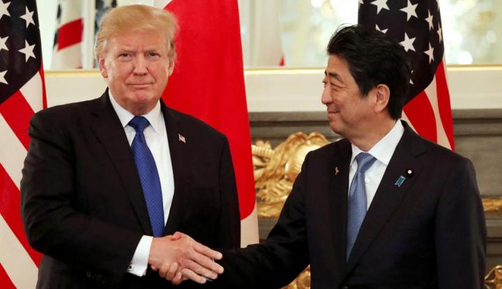 Foto Berita Melawat ke AS, PM Jepang Cari Konsensus Soal Korea Utara Bersama Trump