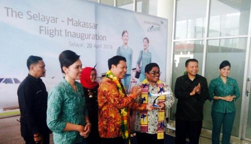 Foto Garuda Buka Rute Makassar-Selayar, Ini Harapan Penjabat Gubernur Sulsel