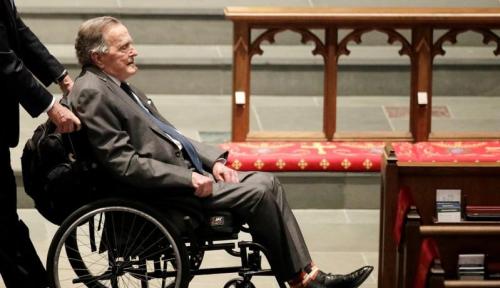 Foto Peringati Kepergian George H.W. Bush, NYSE dan Nasdaq Tutup pada Rabu Ini