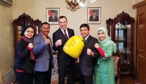 Foto Mengintip Perjuangan Enam Atlet Tinju Indonesia di Ukraina