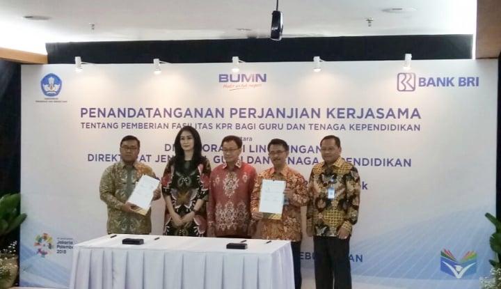 Foto Berita Gandeng Kemdikbud, BRI Fasilitasi KPR bagi Guru se-Indonesia