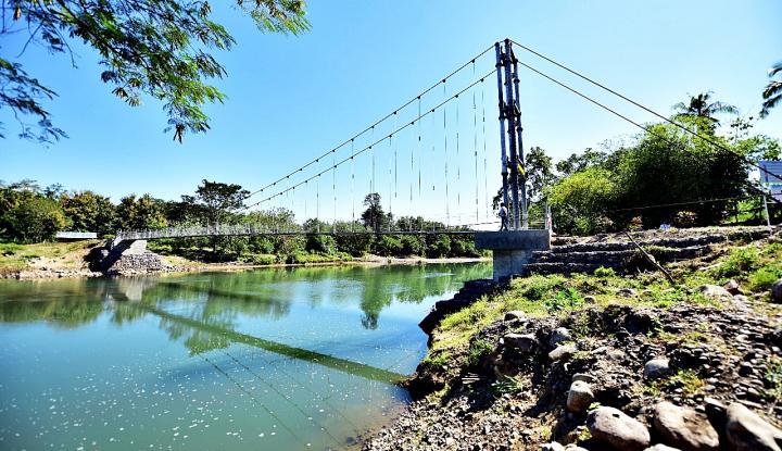 Foto Berita Jembatan Gantung Berteknologi Judesa Diaplikasikan di Manggarai Barat, NTT