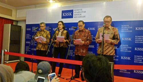 Foto KSSK: Stabilitas Sistem Keuangan Terkendali di Triwulan I 2018