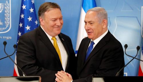 Foto Pertemuan Pompeo dan Netanyahu Telah Dilakukan, Pompeo Bahas. . .