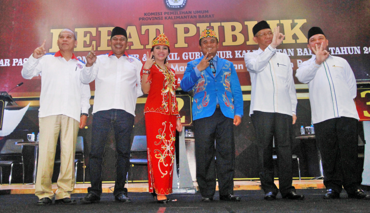 Foto Berita Survei Exit Poll Pilgub Kalbar, Milton-Boyman Keluar jadi Pemenang
