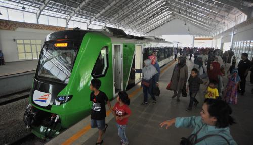 Foto Pembukaan KA Bandara Minangkabau, KAI Gratiskan Tiket Operasional