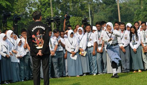 Foto Relawan Jokowi Siap Dukung Asian Games