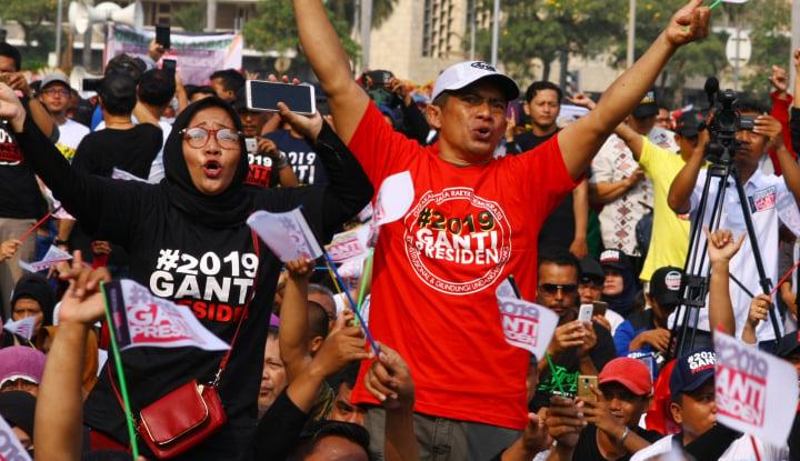 Foto Berita Gerakan #2019TolakGantiPresiden Muncul di Jabar