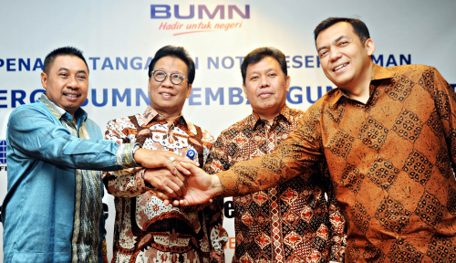 Foto PTPN III Jalin Sinergi dengan Tiga BUMN