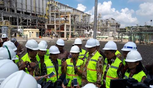 Foto Diresmikan Menteri Rini, Pabrik II B Pusri Selamat Beroperasi