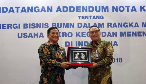 Foto Majukan UMKM Indonesia, PNM-BTN Jalin Sinergi