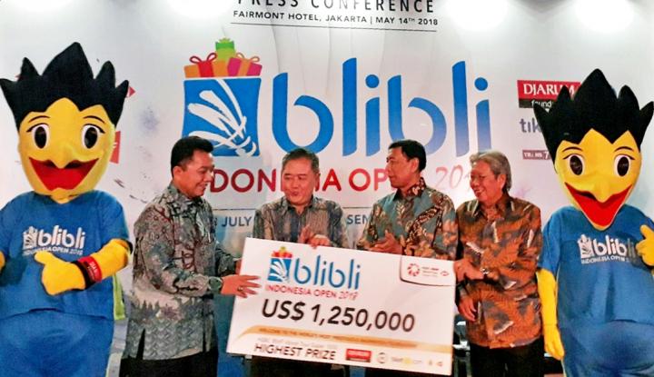 Foto Berita Blibli Indonesia Open Rebutkan Hadiah Rp17,5 Miliar
