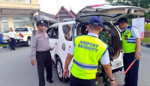 Foto Pasca Bom di Surabaya, AP I Balikpapan Pantau Gerak Gerik Penumpang