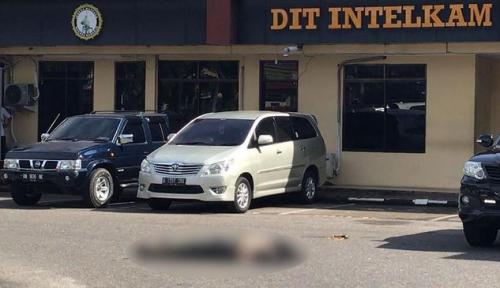 Foto Polisi Tangkap Pelaku Teror di Mapolda Riau