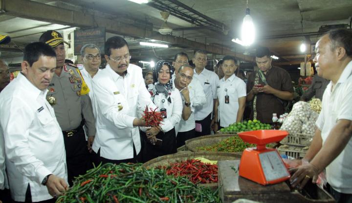 gubernur sumut sidak pasar modern dan tradisional h-1 puasa