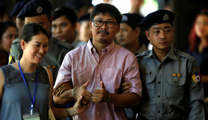 Polisi Myanmar Bantah Berikan Dokumen Rahasia ke Jurnalis Reuters - Warta Ekonomi