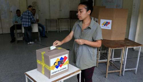 Foto AS Ogah Akui Hasil Pemilu Venezuela