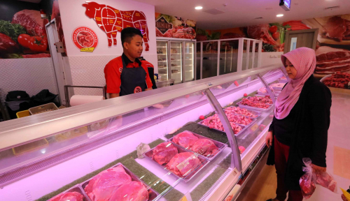 Foto Jelang Lebaran, Bulog Tambah 13 Ton Daging Sapi Beku