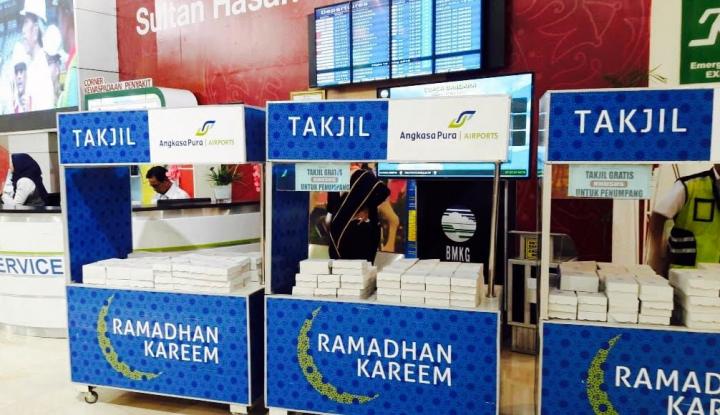 Foto Berita Pelayanan Prima, Bandara Hasanuddin Siapkan Takjil Selama Ramadan
