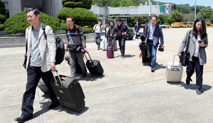 Foto Berita Korea Utara Izinkan Wartawan Korsel Kunjungi Situs Nuklir Punggye-ri
