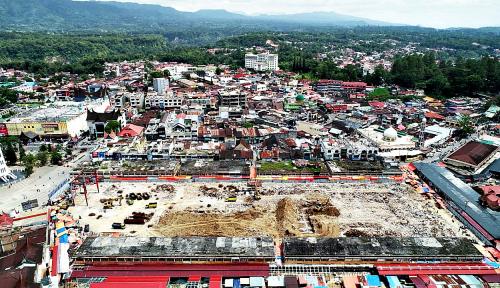 Foto Renovasi Pasar Atas Bukittinggi Telan Anggaran Rp355 M
