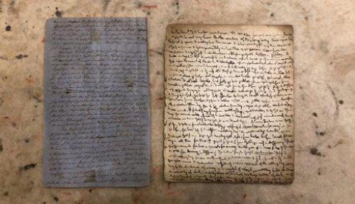 Foto Satu Halaman Manuskrip Karl Marx Laku Dilelang Rp7,18 Miliar