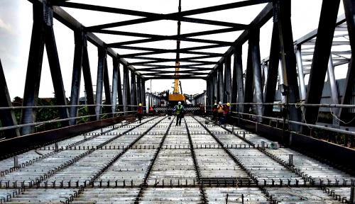 Foto Pernah Runtuh, Perbaikan Jembatan Cincin Lama Rampung H-10 Lebaran