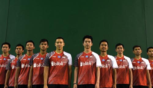 Foto Tim Thomas Indonesia Atur Strategi Hadapi China di Semifinal
