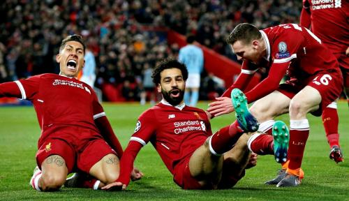 Foto Gol Telat Firmino Antarkan Liverpool Pecundangi PSG 3-2 di Anfield
