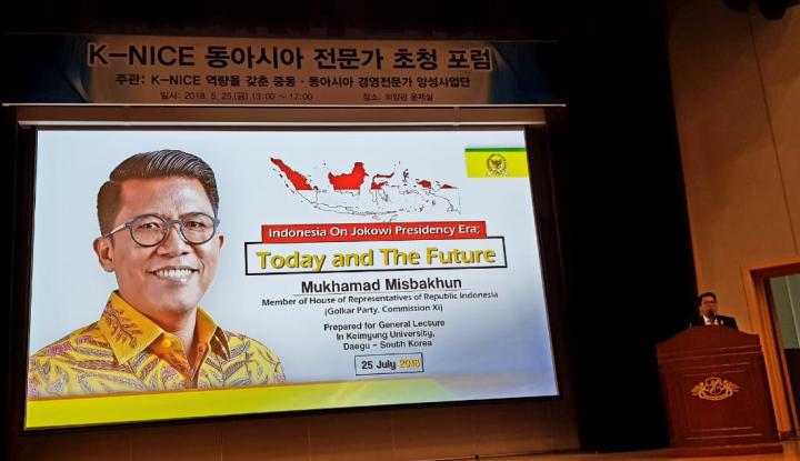 Foto Berita Beri Kuliah Umum di Kampus Top Korsel, Misbakhun Pamerkan Kesuksesan Pemerintahan Jokowi
