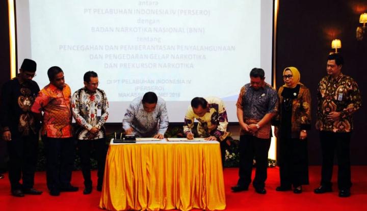 Foto Berita BNN dan Pelindo IV Jalin Kerja Sama Cegah Peredaran Narkotika