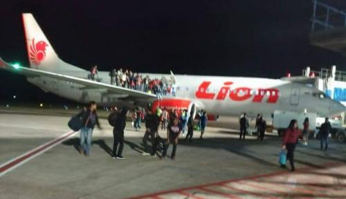 Foto Pasca Lion Air Tergelincir, Bandara Supadio Pontianak Ditutup Sementara