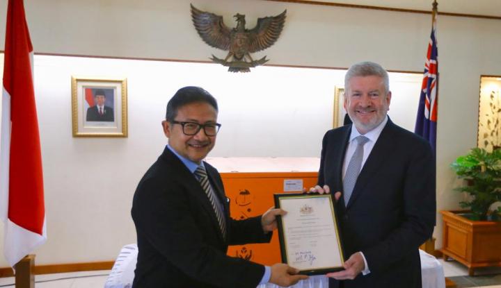 Foto Berita Australia Serahkan Tengkorak Bernilai Budaya ke Indonesia