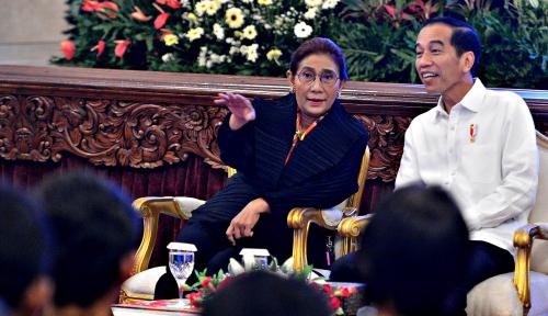 Foto Menteri Susi Sebut Kapal Vietnam Lebih Banyak Ditenggelamkan