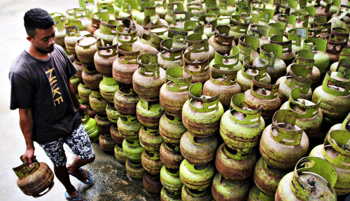 Foto Pertamina: Stok LPG di Jayapura Aman