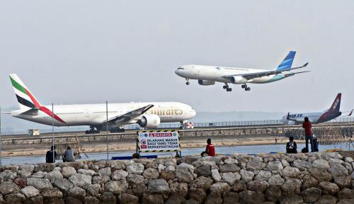 Foto Garuda Indonesia Terbangkan 95 Kloter Haji dari Solo