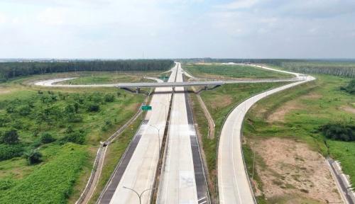 Foto Tol Trans Sumatera Bakauheni-Terbanggi Siap Beroperasi 22 Desember
